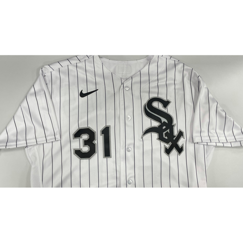 Photo of Liam Hendriks Autographed White Pinstripe Jersey