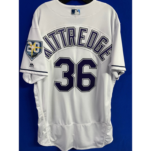 Photo of Game Used (2 Games) Devil Rays Jersey: Andrew Kittredge - 2018 Season (See Description for Details)