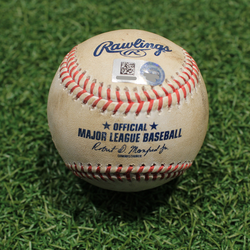 Photo of Game-Used Baseball: Tommy Milone 697th Career Strikeout (TOR@KC 4/17/21 Game 2)
