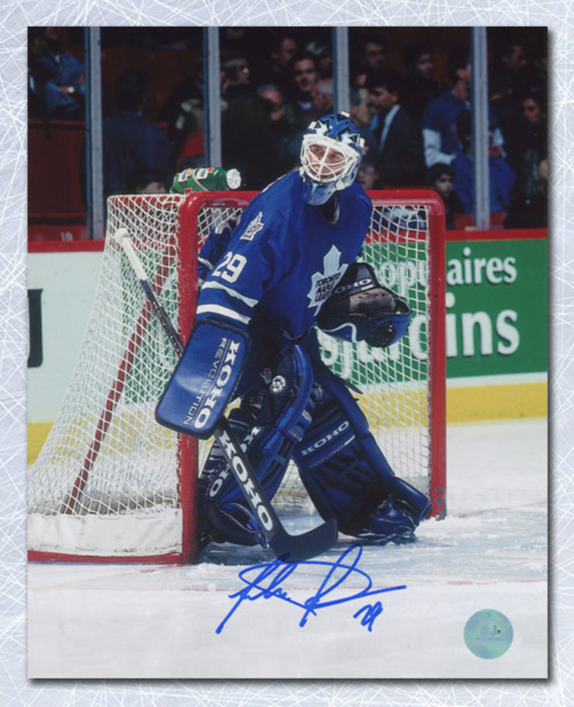 Felix Potvin Toronto Maple Leafs Autographed The Cat In Goal 8x10 Photo