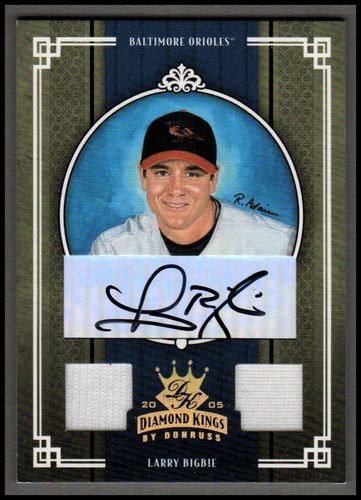 Photo of 2005 Diamond Kings Signature Materials Gold #31 Larry Bigbie Jsy-Jsy/50