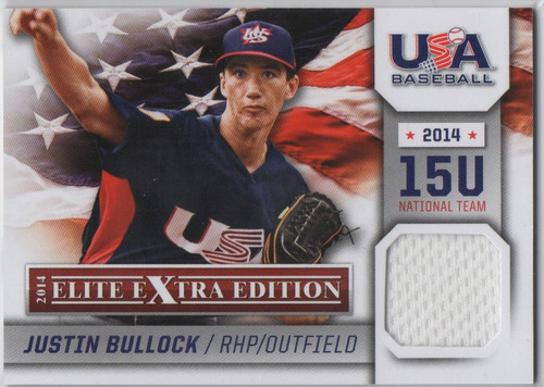 Photo of 2014 Elite Extra Edition USA Baseball 15U Game Jerseys #10 Justin Bullock
