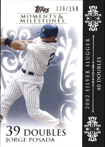 Photo of 2008 Topps Moments and Milestones #65-39 Jorge Posada