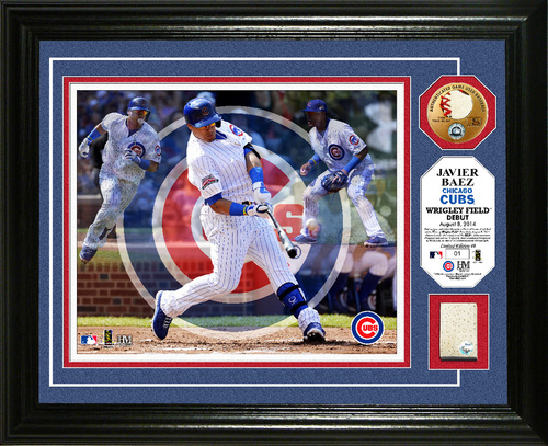 Photo of Javier Baez Wrigley Field Debut Plaque