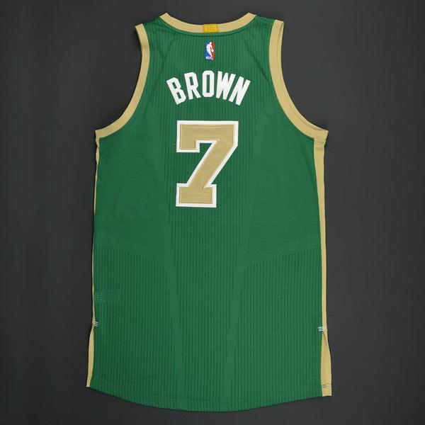 new product 27d48 6253e Jaylen Brown - Boston Celtics - Green 'St. Patrick's Day ...