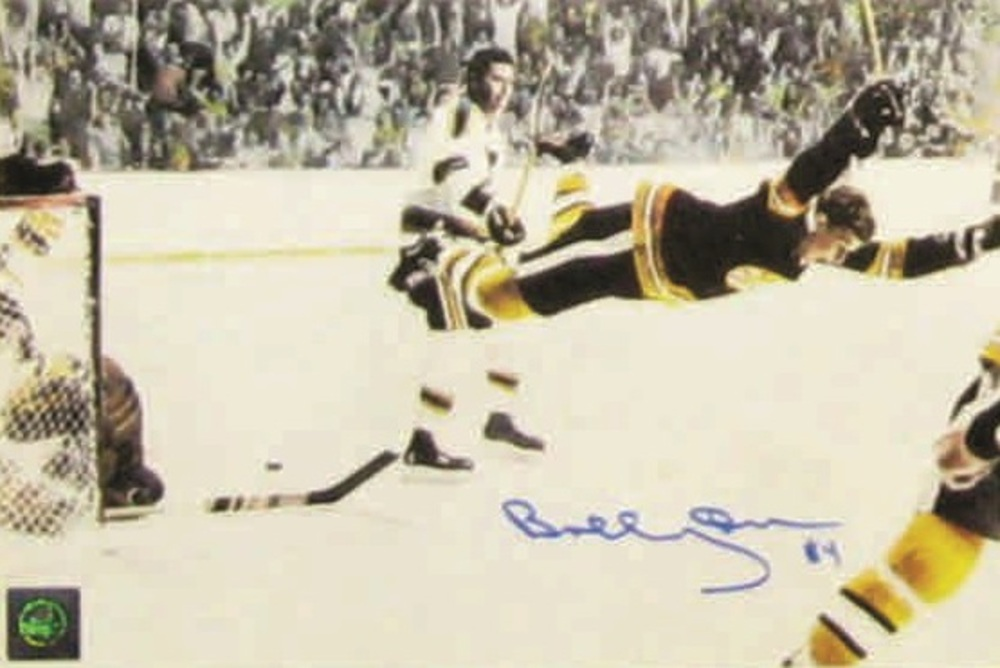 Bobby Orr - Signed 8x10 Bruins The Goal Colour