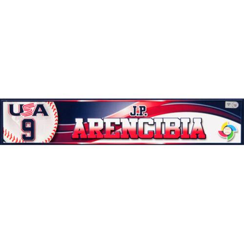 Photo of 2013 WBC: USA Game-Used Locker Name Plate - #9 J.P. Arencibia