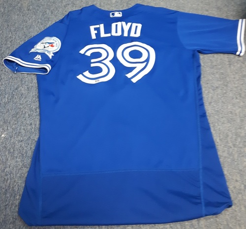 Photo of Authenticated Game Used Jersey - #39 Gavin Floyd (April 9, 2016). Size 48.
