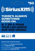 SXM $50 GIFT CARD