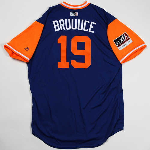 "Photo of Jay ""BRUUUCE"" Bruce New York Mets Game-Used Jersey 2018 Players' Weekend Jersey"