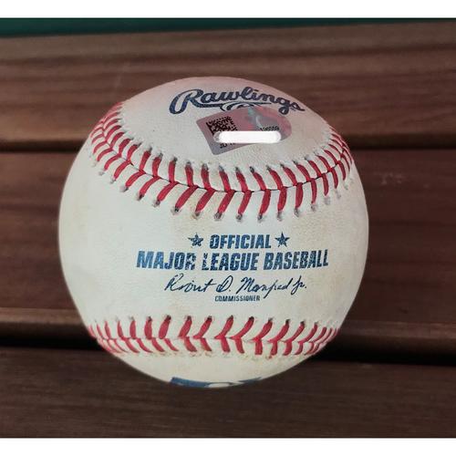 Photo of Game-Used Baseball - Ryan Zimmerman Double - 8/7/2018