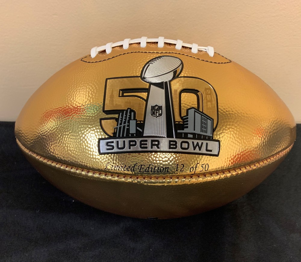 Super Bowl 50 Limited Edition GOLD Football - Signed by MVP Von Miller