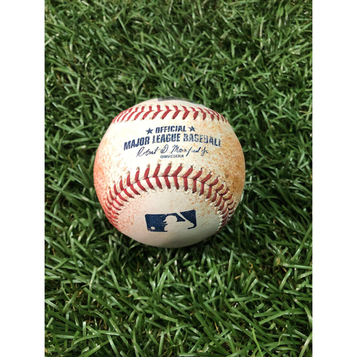 Photo of Game Used Baseball: Austin Meadows 3RBI Double off Martin Perez - May 30, 2019 v MIN