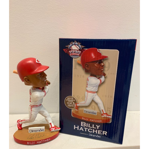 Photo of Reds Hall of Fame 1990 25th Anniversary Series - Billy Hatcher Autographed Bobblehead