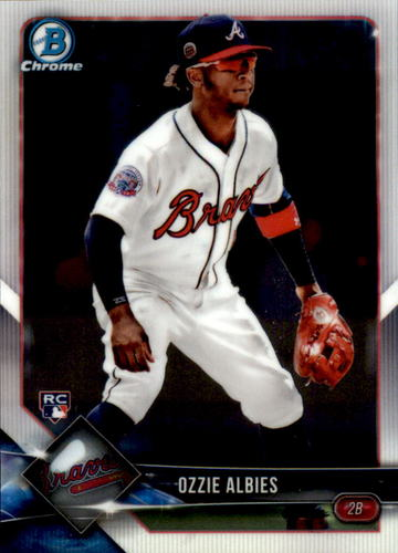 Photo of 2018 Bowman Chrome #92 Ozzie Albies RC