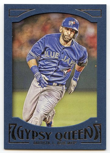 Photo of 2016 Topps Gypsy Queen Framed Blue #12 Jose Bautista