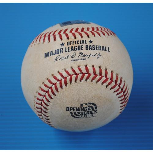 2019 Japan Opening Series Game-Used Baseball: Batter - Matt Olson, Pitcher - Yusei Kikuchi - Bottom of 5th, Swinging Strike - 3/21/19