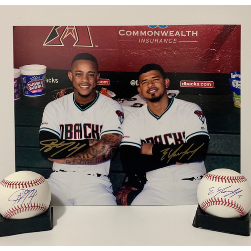 Photo of Ketel Marte and Eduardo Escobar Dual Autographed 11x14 and Baseballs