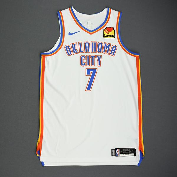 Image of Darius Bazley - Oklahoma City Thunder - Game-Worn Association Edition Jersey - 2019-20 NBA Season
