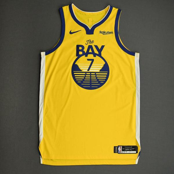 Image of Eric Paschall - Golden State Warriors - Game-Worn Statement Edition Jersey - Scored Team-High 25 Points - 2019-20 NBA Season