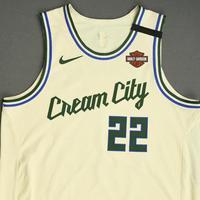 Khris Middleton  - Milwaukee Bucks - Game-Worn City Edition Jersey - Scored Game-High 39 Points - 2019-20 NBA Season