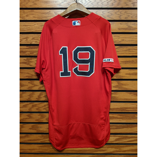 Photo of Jackie Bradley Jr. #19 Game Used Red Home Alternate Jersey