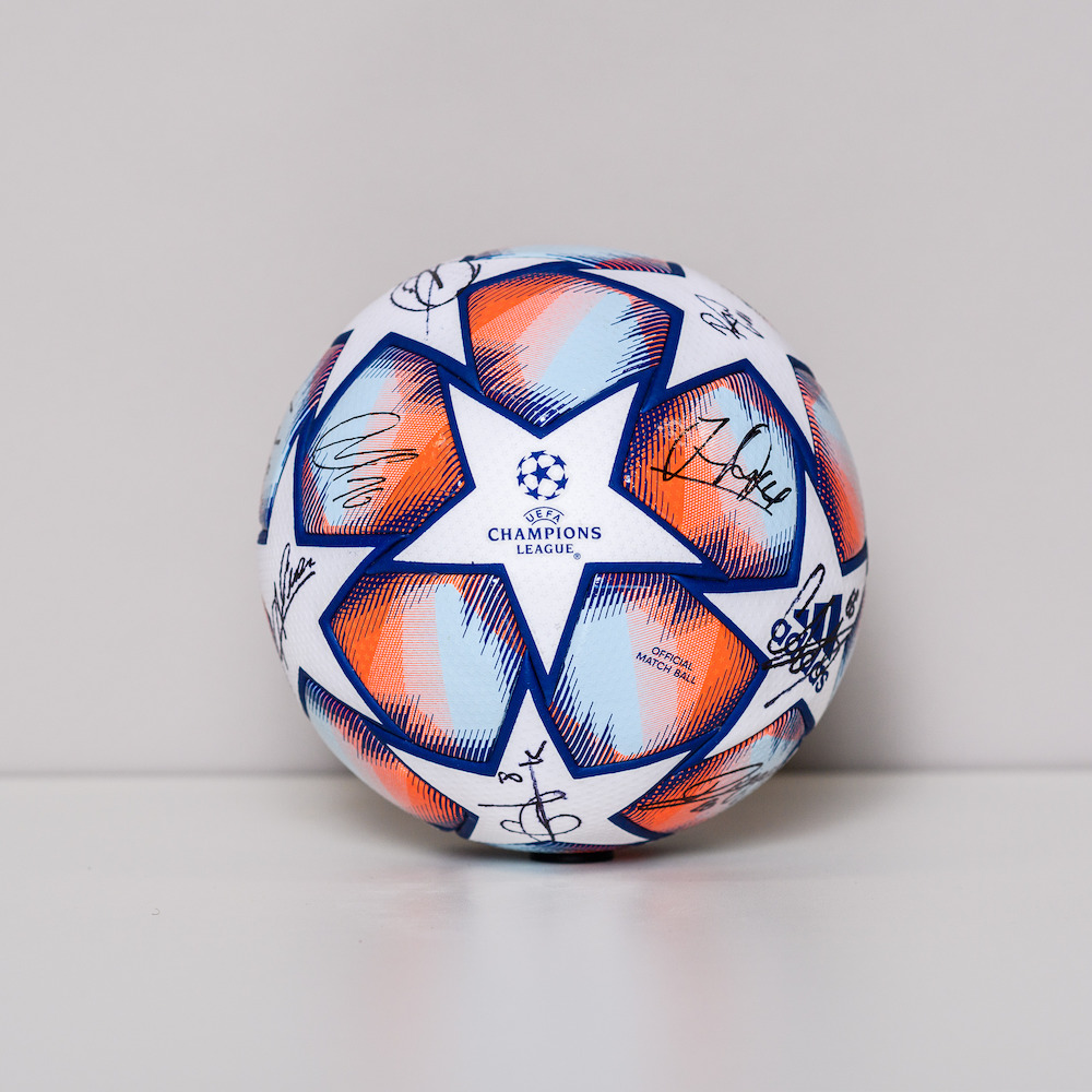 20/21 Champions League Ball signed by the Liverpool FC Team