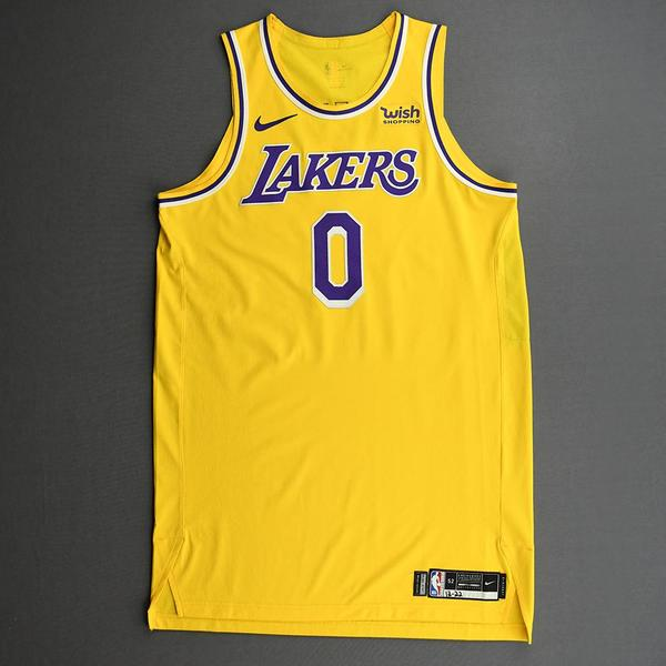 Image of Kyle Kuzma - Los Angeles Lakers - Kia NBA Tip-Off 2020 - Game-Worn Icon Edition Jersey