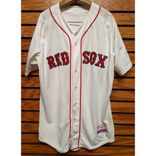 Photo of Xander Bogaerts #2 Game Used Home White Jersey - Size 46