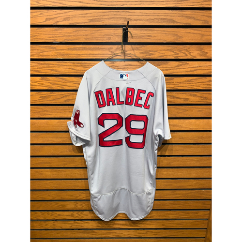 Photo of Bobby Dalbec Game Used April 27, 2021 Road Jersey - 1 for 3, RBI