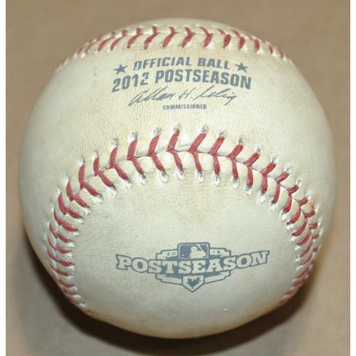 Game-Used Baseball - 2012 ALCS Game 4 - New York Yankees vs. Detroit Tigers - Batter: Avisail Garcia, Pitcher: CC Sabathia, Foul Ball, Bot 3
