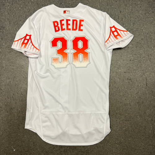 Photo of 2021 Team Issued City Connect Jersey - #38 Tyler Beede - Size 46