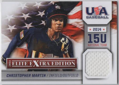 Photo of 2014 Elite Extra Edition USA Baseball 15U Game Jerseys #11 Christopher Martin