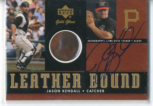 Photo of 2001 Upper Deck Gold Glove Leather Bound Autograph #SLBJK Jason Kendall