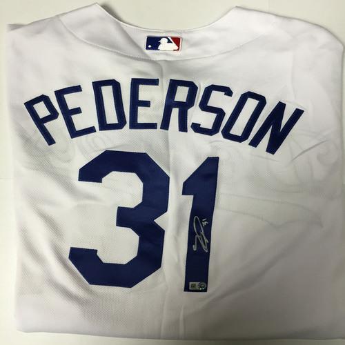 Joc Pederson Autographed Authentic Dodgers Jersey