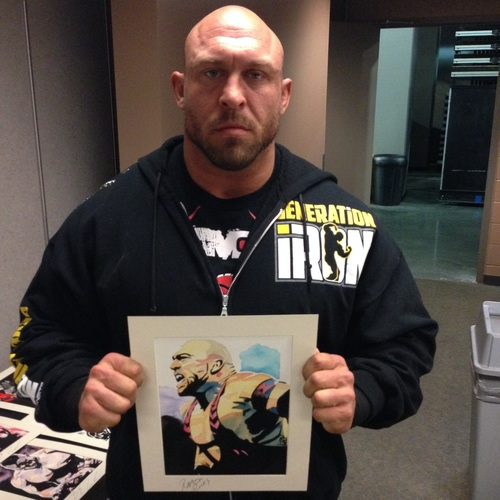 Ryback Signed Painting by Rob Schamberger