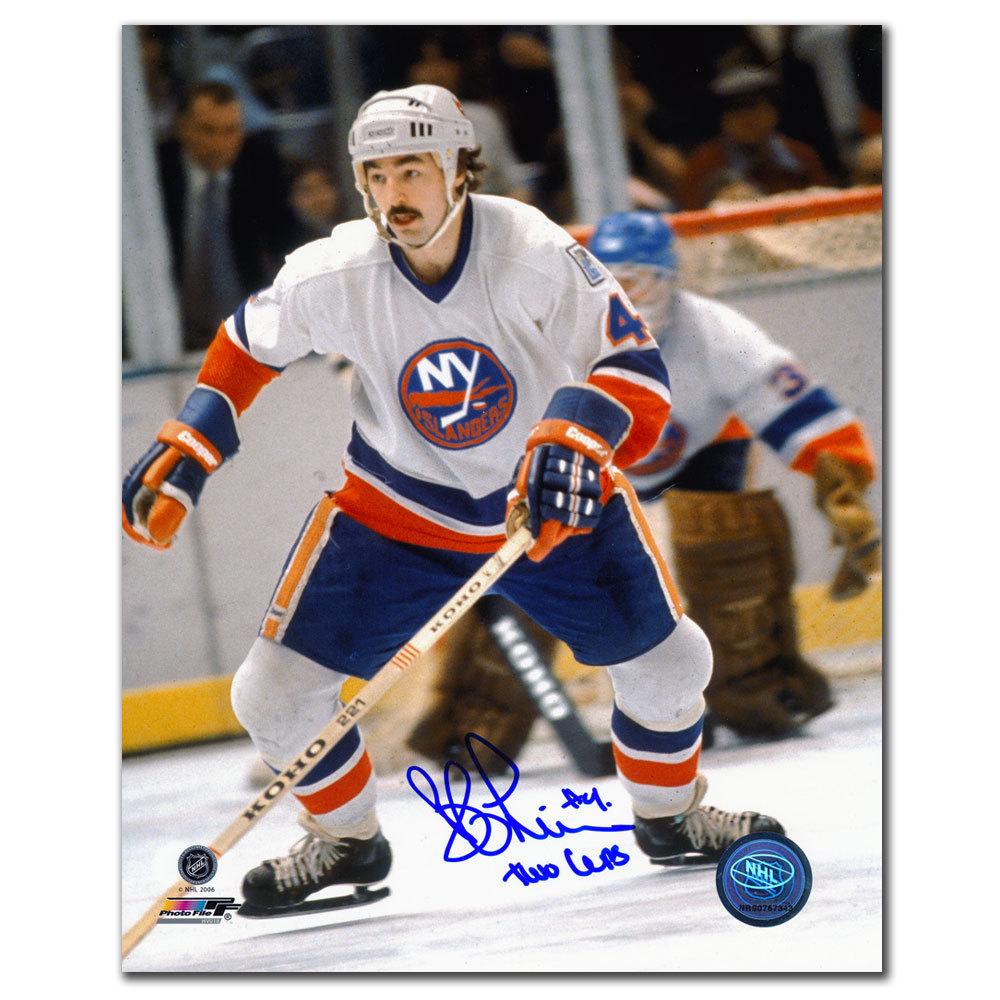 Bob Lorimer New York Islanders 2 Cups Autographed 8x10