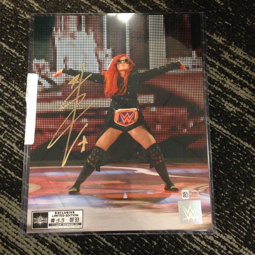 Becky Lynch SIGNED 8 x 10 Limited Edition WrestleMania 33 Photo (#33 of 33)