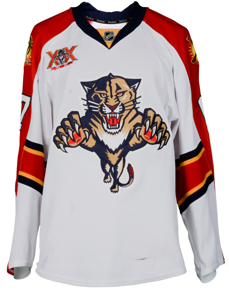 Vincent Trocheck Florida Panthers Game-Used  67 White Jersey from the 2013-14  NHL Season - Size 56 3dde8f763