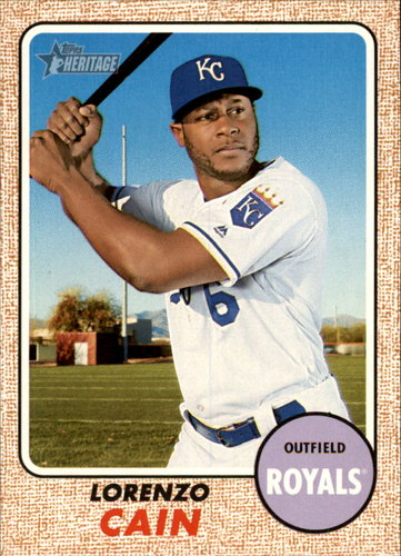 Photo of 2017 Topps Heritage #253A Lorenzo Cain
