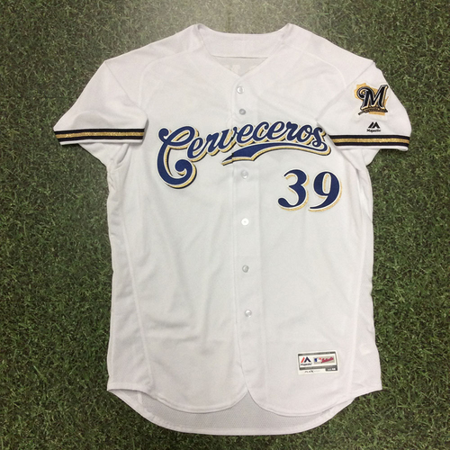 Corbin Burnes 2018 Game-Used Cerveceros Jersey (Christian Yelich's 2nd Cycle Game of 2018)