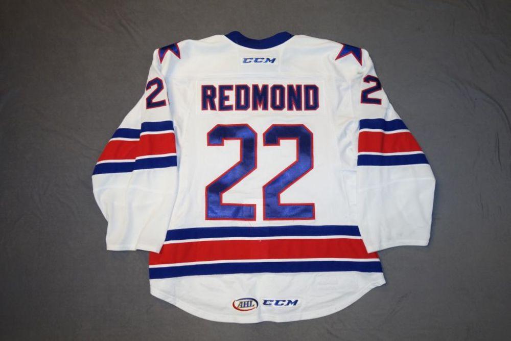 Zach Redmond Game-Worn Rochester Americans White Jersey