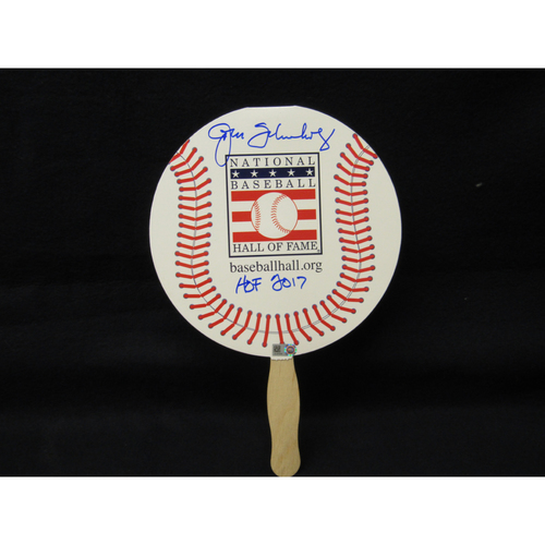 Photo of John Schuerholz Autographed Baseball Hall of Fame Paper Fan