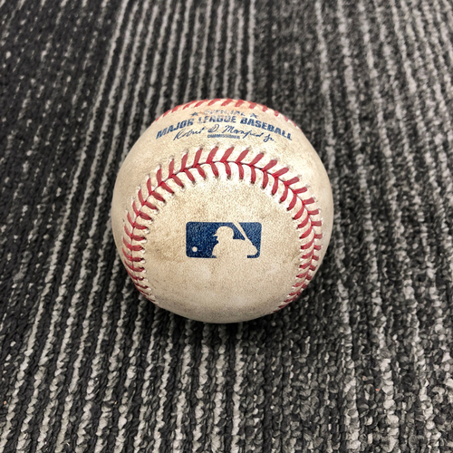 Photo of 2017 Game Used Baseball - 9/30 vs. San Diego Padres - T-4: Matt Cain to Christian Villanueva - Pitch in the Dirt - Matt Cain's Final Career Game