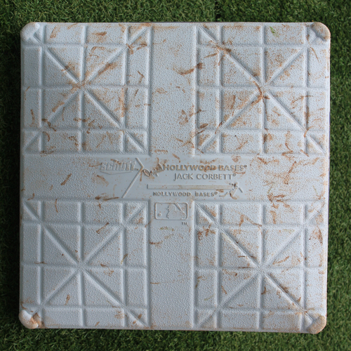 Photo of Game-Used 3rd Base: Albert Pujols 637th Career Home Run - 3,100th Career Hit and 1,994th & 1,995th Career RBIs (Innings 1-5 - LAA @ KC - 4/26/19)