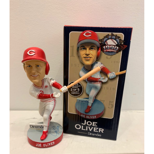 Photo of Reds Hall of Fame 1990 25th Anniversary Series -Joe Oliver Autographed Bobblehead