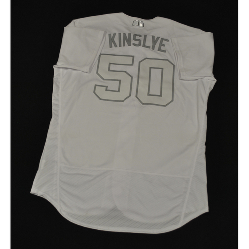 "Photo of Jim ""KINSLYE"" Riggleman New York Mets Game-Used 2019 Players' Weekend Jersey"