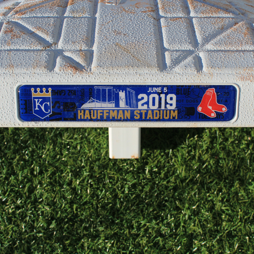 Photo of Game-Used 3rd Base: Rafael Devers 40th Career Home Run (Innings 6-9 - KC vs BOS - 6/5/2019)