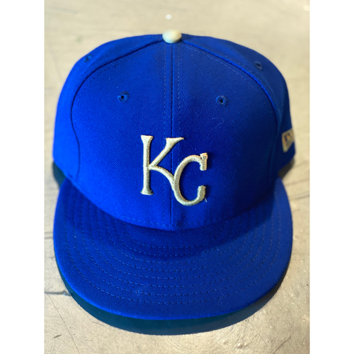 Photo of Game-Used Cap: Whit Merrifield (Size 7 3/8 - MIN @ KC - 9/27/19)