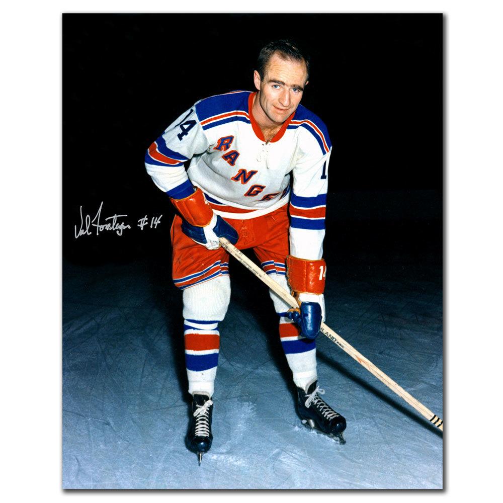 Val Fonteyne New York Rangers Autographed 8x10